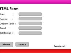 html form yapımı